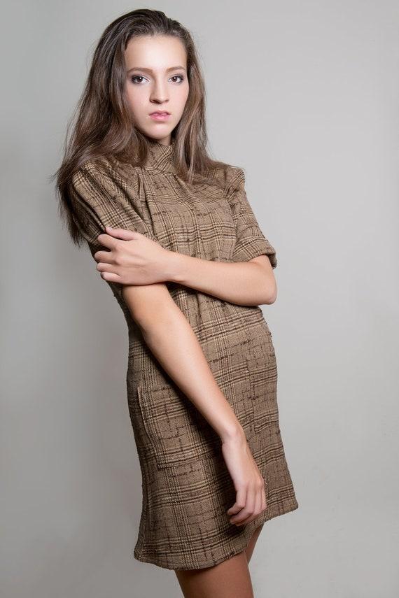 S. Eight Days a Week, wool dress, size 6 women's small. Has pockets, mock turtleneck, cuffs.