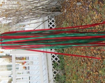 Red and Green Christmas Windsock
