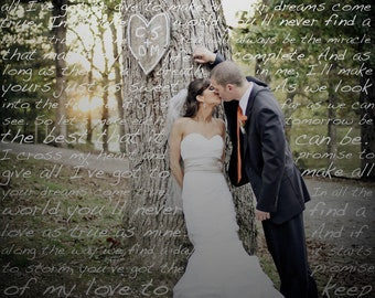 Custom First Dance Lyrics On Your Photo (Lustre Print)