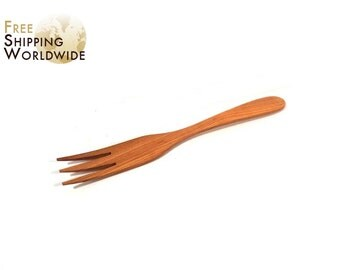 Wooden Forks for turning Steaks and all kinds of Meat on the Grill / Barbeque from Cherry wood - 38
