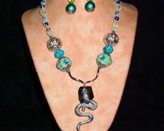 Hemp Necklace K12 Blue Surpant