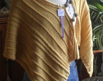 Yellow Cotton Shawl Knitted Organic Cotton Shawls Wraps, Fashion Accessories Handmade Gifts
