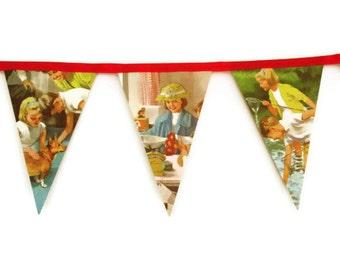 Bunting, Playroom Decoration, Nursery Decoration, Party Decoration, Pennant, Banner, Vintage Bunting, UK Seller