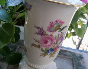 Vase Rosenthal Maria Selb Germany Flower Embossed Gold