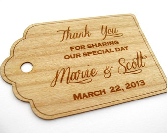 Wedding Favor Tags, Thank you tags, Rustic Wedding, Wedding Tags, Wood Tags, Gift Tags, Favor Tags, Hang Tags, Custom Tags, Wood labelss