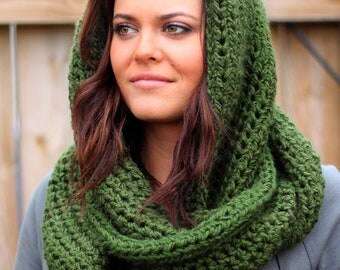 Soft and Cozy Infinity Scarf in Forest Green- Other colors available