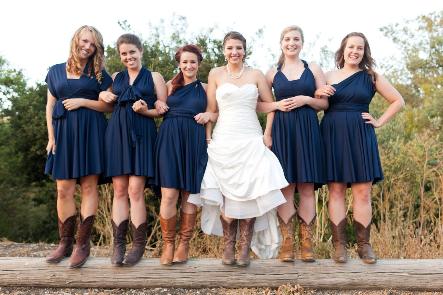 Yellow Bridesmaid Dresses With Cowgirl Boots 18