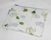 Frogs and Toads Padded Zippy Pouch --- Large Size
