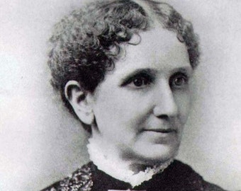 Mary Baker Eddy Vintage Portrait Victorian Freethinking Woman Founder Church Of Christ, Scientist Religious Leader Black & White