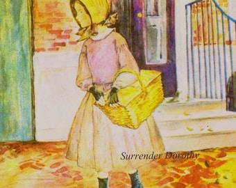 Thee Hannah Marguerite De Angeli   First Edition Illustrated 1940 Hardcover Children's Book Philadelphia Quaker Girl