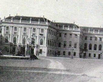 Schönbrunn Palace Vienna Austria 1890 Vintage Europe Victorian Architecture Rotogravure Photo Illustration For Framing