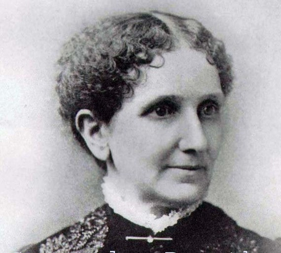 Mary Baker Eddy Vintage Portrait Victorian Freethinking Woman Founder Church Of Christ, Scientist Religious Leader