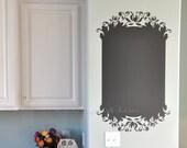 Elegant Chalkboard Vinyl Wall Decal, size SMALL - Chalkboard Wall Art, Kitchen Decor, Bedroom Decor, Office Decal,
