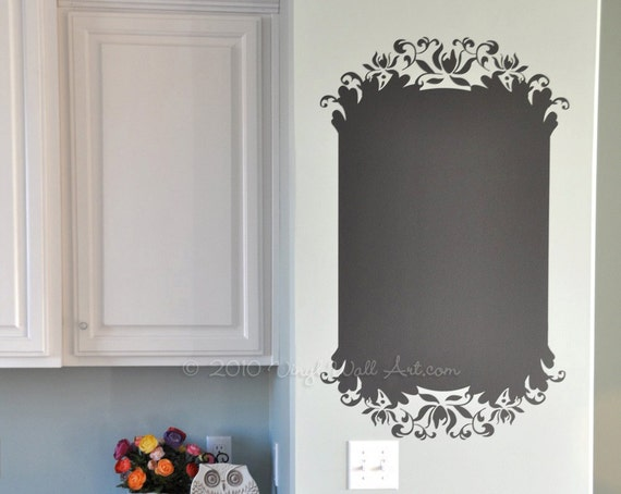 Elegant Chalkboard Vinyl Wall Decal size SMALL Chalkboard