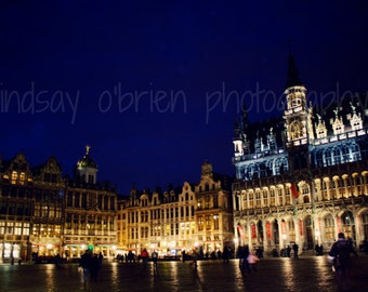 Brussels Photography: Brussels Grand Place Print 8x10, Brussels Belgium, Brussels Photo, Belgium Photography, Brussels Art, Brussels Photos