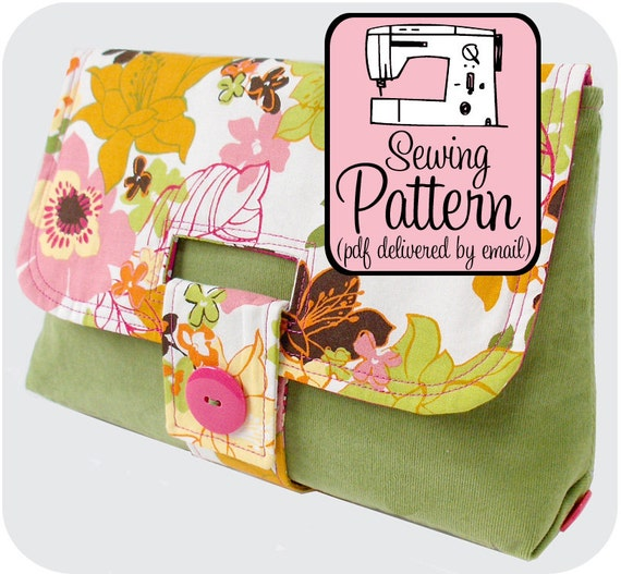 Sewing Pattern to Make a Strap Clutch - PDF (Email Delivery)
