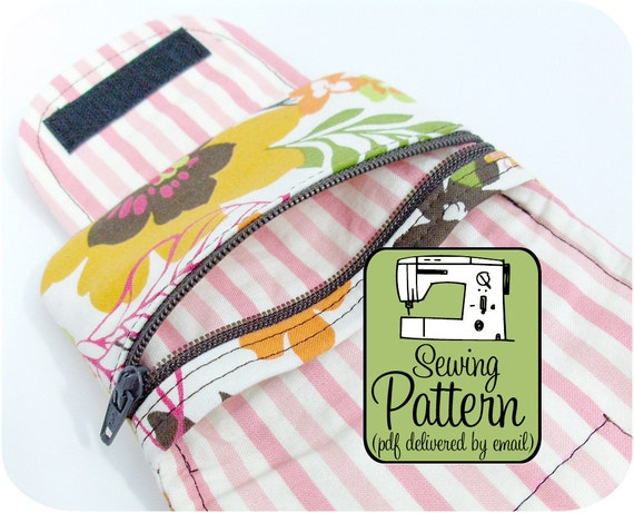 Zip Pocket Pouch PDF Sewing Pattern (Email Delivery) Tutorial Includes 3 Sizes