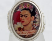 Frida Te Amo Sterling or Bronze Ring (Sizes 5-14 w/ half sizes)