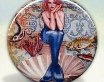 Mermaid Pin Up mirror tartx