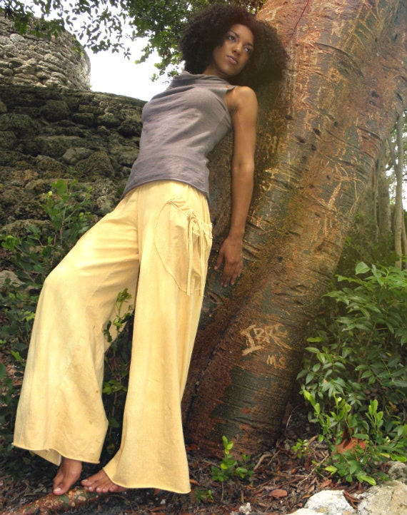Wanderlust Pants in 100% Organic Cotton Hemp Jersey. Made to order.