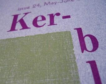 Ker-bloom letterpress zine number 24 census