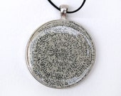 Book Jewelry, Art Necklace, Paper Coiled, Large