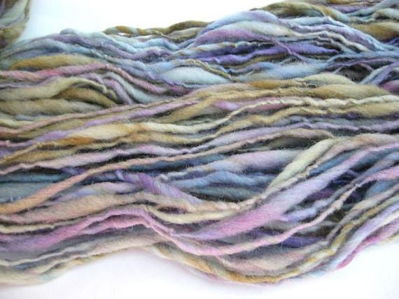 Handspun Merino Wool Yarn - Hand Dyed - Worsted/Bulky Single - Serene - 138 Yards