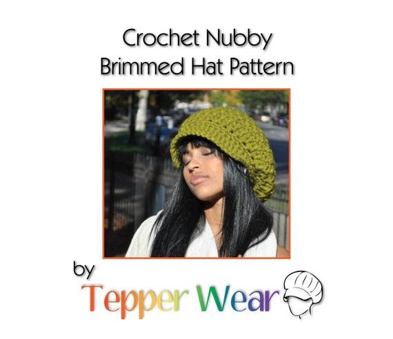 Pattern for my Crocheted Nubby Brimmed Newsboy Hat - Crochet Newsboy Hat Pattern