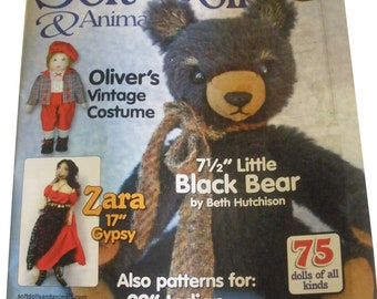 SOFT DOLLS & ANIMALS Magazine- May, 2012,  tutorials, project, doll making, quilting, sewing, bear making, toys, techniques