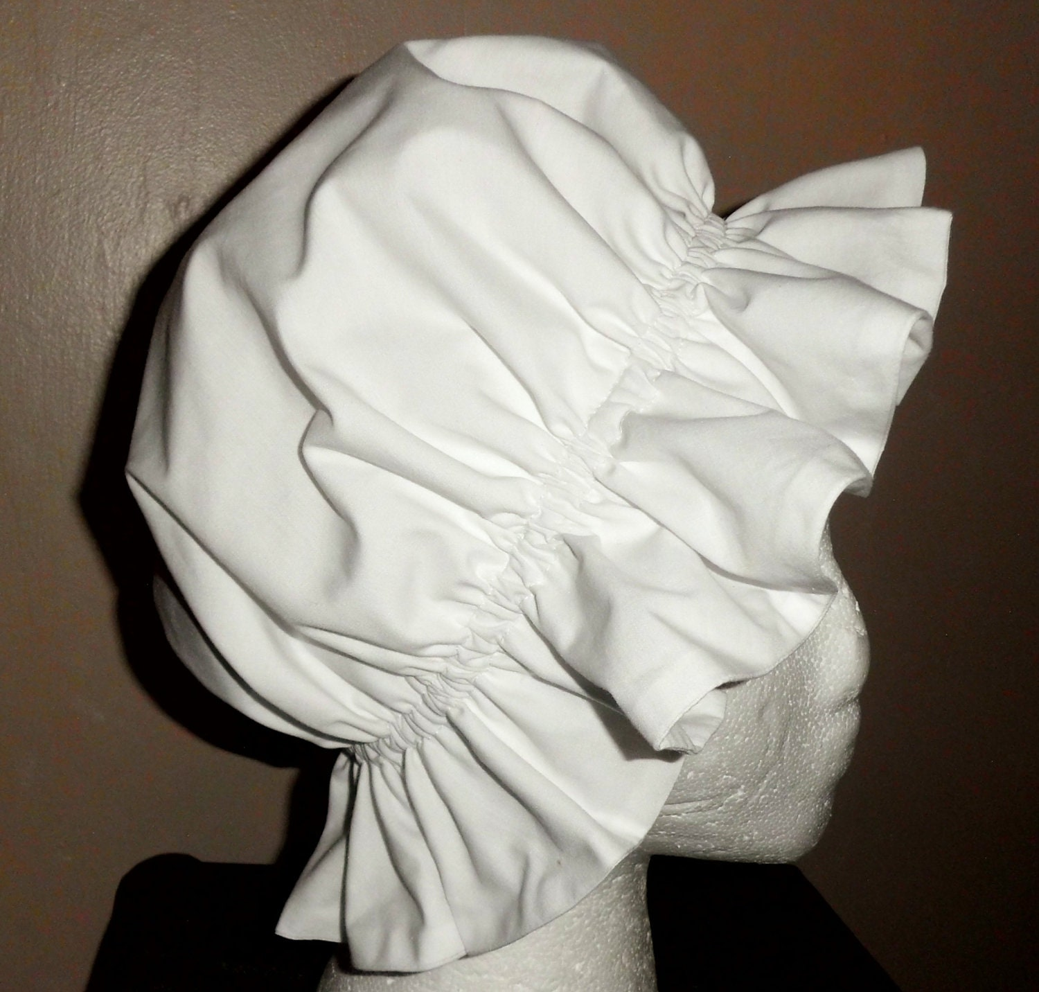 Colonial mob cap bonnet hat sleep cap in by bonnetsanddresses for Colonial hat template