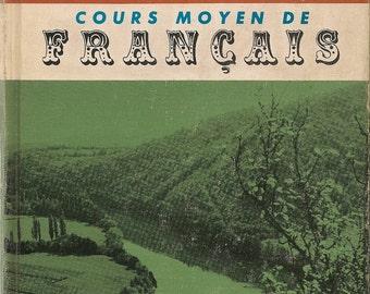 VINTAGE KIDS BOOK Cours Moyen de Francais