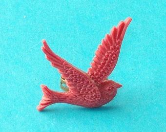 Swallow Ring Raspberry Fuchsia Pink Adjustable