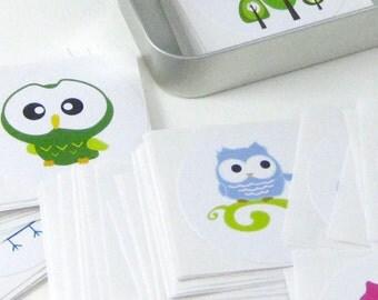 Owl Stickers STKX004 ( Set of 100 randomly picked )
