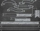 Chalk Clip Art Banners and FREE Chalkboard Backgrounds - Overlays for Scrapbookers and Photographers