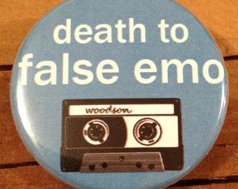 Death To False Emo - Button, Magnet, or Bottle Opener