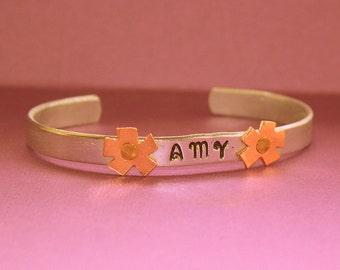 Personalized Cuff Bracelet - Hand Stamped Jewelry
