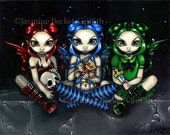 Wicked, Tricksy and False goth sisters fairy art print by Jasmine Becket-Griffith 8x10