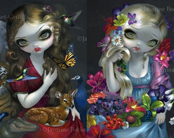Flora and Fauna Set of TWO 8x10 art prints by Jasmine Becket-Griffith SIGNED