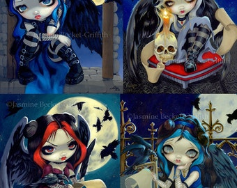 Gothic Poe Collection Set of FIVE 8x10 art prints by Jasmine Becket-Griffith SIGNED