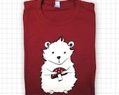 SALE Maroon Hamster Screen Printed T-shirt - American Apparel