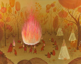 Fire Dancers Limited Edition Print