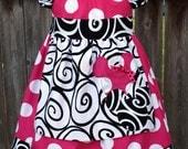 Hidden Mickey and Minnie Apron Peasant Mini Dress