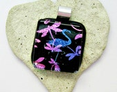 Dichroic Dragonflies and Dichroic Flamingo Fused Glass Pendant