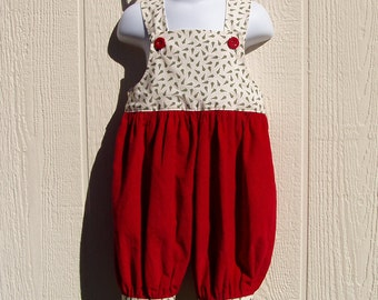 Tiny Trees Christmas Short Romper 12 Months, Ready to Ship