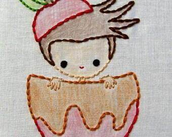 Apple boy, Pumpkin girl, Acorn girl Fall Friends Autumn Digital Embroidery Patterns