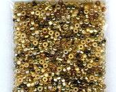 3 oz NICE S/L Lt Topaz Mix Preciosa Czech Seed Beads Loose Bag 6/0 1300 beads