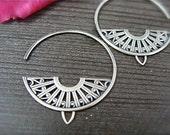 deco hoops ... sterling silver earrings