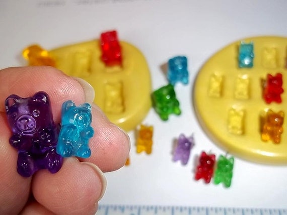 Gummy Bear Flexible Mold Mould For Resin Paper Clay Sculpey Fimo Polymer Fondant Wax Chocolate Food Safe  M482