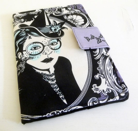 Halloween Witch Kindle Keyboard Cover, purple, goth