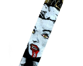 Zombie Marilyn Monroe hand painted canvas cuff with snaps